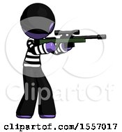 Purple Thief Man Shooting Sniper Rifle