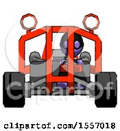 Purple Thief Man Riding Sports Buggy Front View