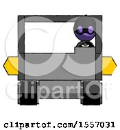 Purple Thief Man Driving Amphibious Tracked Vehicle Front View