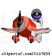Purple Thief Man Flying In Geebee Stunt Plane Viewed From Below
