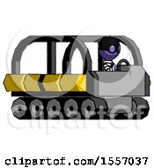 Purple Thief Man Driving Amphibious Tracked Vehicle Side Angle View