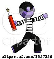 Purple Thief Man Throwing Dynamite