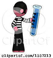 Pink Thief Man Holding Large Test Tube