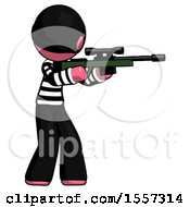Pink Thief Man Shooting Sniper Rifle