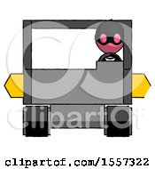 Pink Thief Man Driving Amphibious Tracked Vehicle Front View