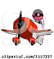Pink Thief Man Flying In Geebee Stunt Plane Viewed From Below