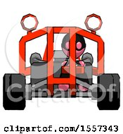 Pink Thief Man Riding Sports Buggy Front View
