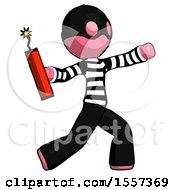 Pink Thief Man Throwing Dynamite
