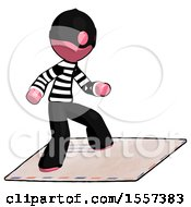 Pink Thief Man On Postage Envelope Surfing