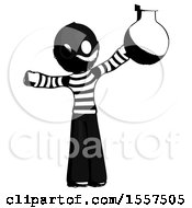 Ink Thief Man Holding Large Round Flask Or Beaker