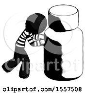 Ink Thief Man Pushing Large Medicine Bottle