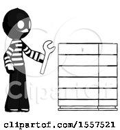 Ink Thief Man Server Administrator Doing Repairs
