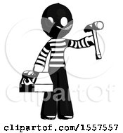 Ink Thief Man Holding Tools And Toolchest Ready To Work