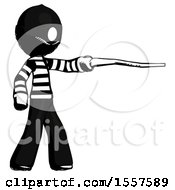 Ink Thief Man Pointing With Hiking Stick