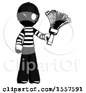 Ink Thief Man Holding Feather Duster Facing Forward