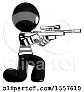 Ink Thief Man Kneeling Shooting Sniper Rifle