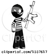 Ink Thief Man Holding Automatic Gun