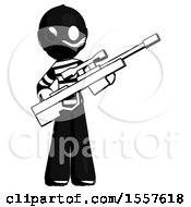 Ink Thief Man Holding Sniper Rifle Gun