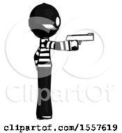 Ink Thief Man Firing A Handgun