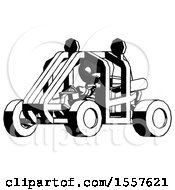 Ink Thief Man Riding Sports Buggy Side Angle View