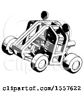 Ink Thief Man Riding Sports Buggy Side Top Angle View