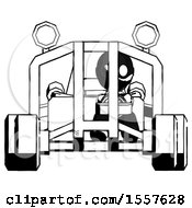 Ink Thief Man Riding Sports Buggy Front View