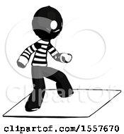 Ink Thief Man On Postage Envelope Surfing