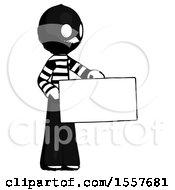 Ink Thief Man Presenting Large Envelope