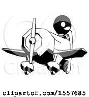 Ink Thief Man Flying In Geebee Stunt Plane Viewed From Below