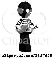Ink Thief Man Serving Or Presenting Noodles