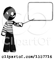 Ink Thief Man Giving Presentation In Front Of Dry Erase Board