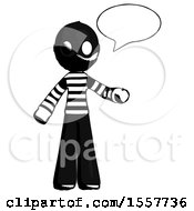 Ink Thief Man With Word Bubble Talking Chat Icon