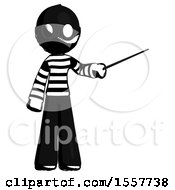 Ink Thief Man Teacher Or Conductor With Stick Or Baton Directing