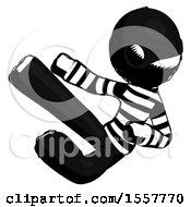 Ink Thief Man Flying Ninja Kick Left by Leo Blanchette