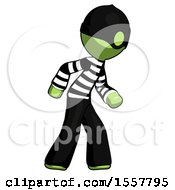 Green Thief Man Suspense Action Pose Facing Right