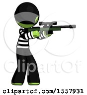 Green Thief Man Shooting Sniper Rifle