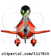 Green Thief Man In Geebee Stunt Plane Front View