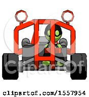 Green Thief Man Riding Sports Buggy Front View