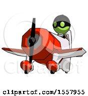 Green Thief Man Flying In Geebee Stunt Plane Viewed From Below