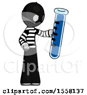 Gray Thief Man Holding Large Test Tube