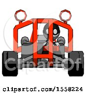 Gray Thief Man Riding Sports Buggy Front View