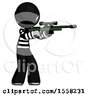 Gray Thief Man Shooting Sniper Rifle
