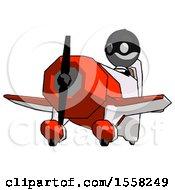Gray Thief Man Flying In Geebee Stunt Plane Viewed From Below