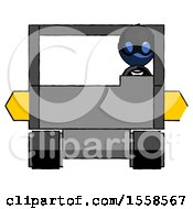 Blue Thief Man Driving Amphibious Tracked Vehicle Front View