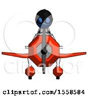 Blue Thief Man In Geebee Stunt Plane Front View