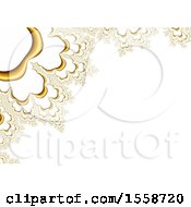 Clipart Of A White And Gold Fractal Background Royalty Free Illustration
