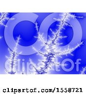 Clipart Of A Frozen Fractal Background Royalty Free Illustration