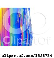 Clipart Of A Brush Styled Fractal Background Royalty Free Illustration