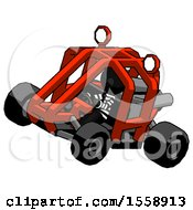 Black Thief Man Riding Sports Buggy Side Top Angle View