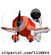 Black Thief Man Flying In Geebee Stunt Plane Viewed From Below